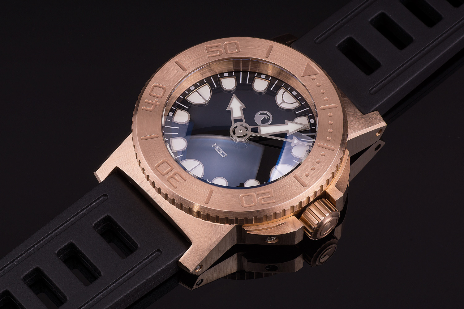 H2o orca dive bronze first time bronze in the h2o orca - Bronze dive watch ...