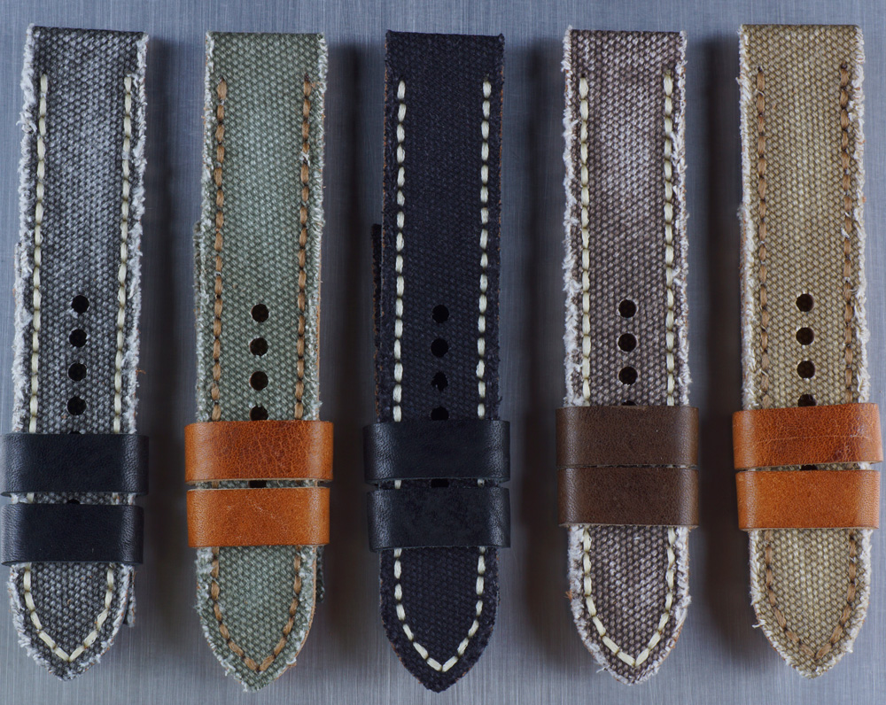 Canvas / Cordura / Jeans Armbänder 22mm + 24mm