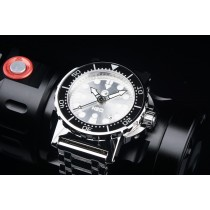 H2O ORCA DIVE POLISHED WITH SILVER SUNBURST SANDWICH DIAL