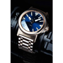 H2O KALMAR 2 MOKUME GANE / DIAL 62 BLUE / DOUBLE DOMED CRYSTAL