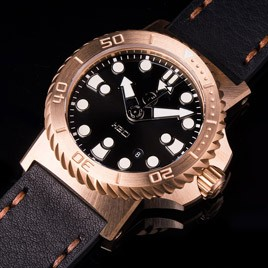 H2O KALMAR 2 BRONZE / BLACK HIGH GLOSSY DIAL 31 / SWISS ETA 2824
