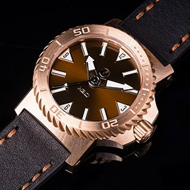 H2O KALMAR 2 BRONZE / BROWN SUNBURST DIAL 65 / SWISS ETA 2824
