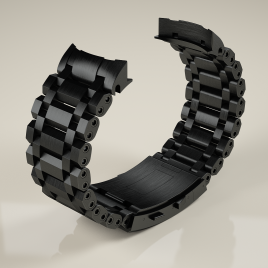H2O ORCA TORPEDO BLACK DLC Stahlarmband inkl. Endstück / 24mm