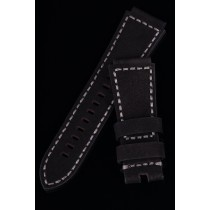 LEATHER STRAP 30-24mm TAPERED / SOFT BLACK / GREY YARN