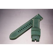 Leather Strap / Green / 24mm