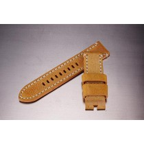 Leather Strap / yellow-beige / 24mm