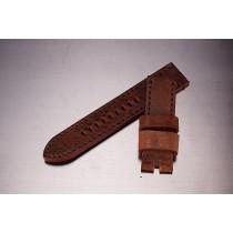 Leather Strap / vintage brown / 24mm