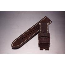 Leather Strap / dark brown / 24mm
