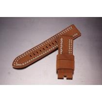 Leather Strap / dark beige / 24mm