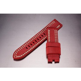 Leather Strap / red / 24mm