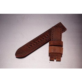 Leather Strap / vintage brown / 24mm