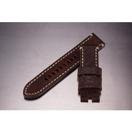 Leather Strap / dark brown / 24mm