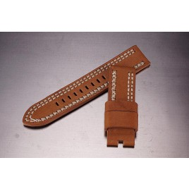 Leather Strap / dark beige / 24mm