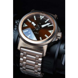 H2O KALMAR 2 MOKUME GANE / DIAL 65 BROWN / DOUBLE DOMED CRYSTAL