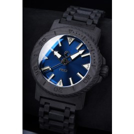 H2O KALMAR 2 CARBON / DIAL 60 / SUNBURST BLUE