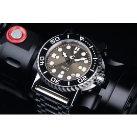 H2O ORCA DIVE POLISHED WITH LIGHT GUN SUNBURST SANDWICH DIAL
