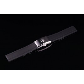 H2O RUBBER STRAP WITH FOLDING CLASP / 22mm / Black