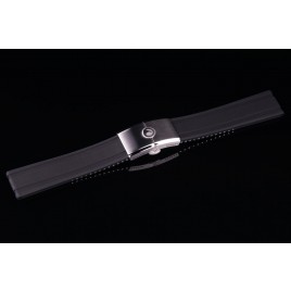 H2O RUBBER STRAP with FOLDING CLASP / 24mm / Black