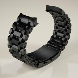 H2O ORCA TORPEDO Bracelet incl. end link / BLACK DLC